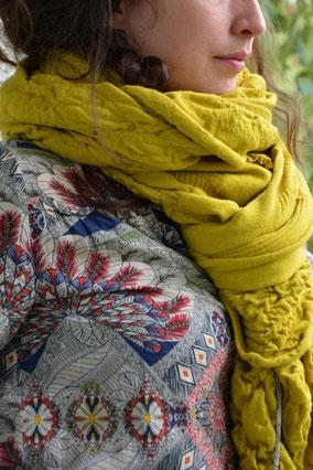 étole femme lana fabrication française laine extra douce