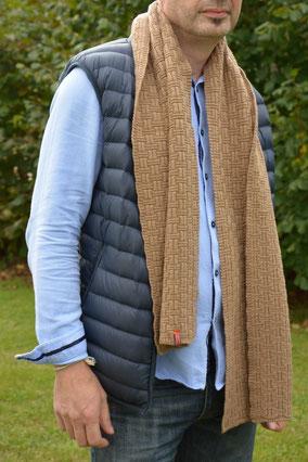 echarpe homme laine fabriquée en france