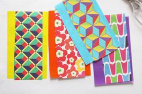 千代紙などで色重ねして可愛く*5種類用意