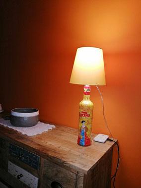 lampada bottiglia amaro lucano