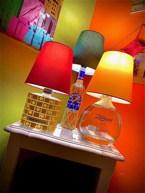 Lampade con bottiglia davvero originali.