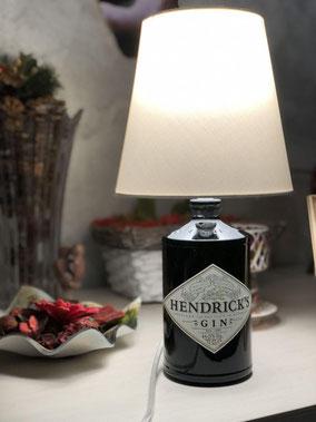 bottiglia lampada hendrick's