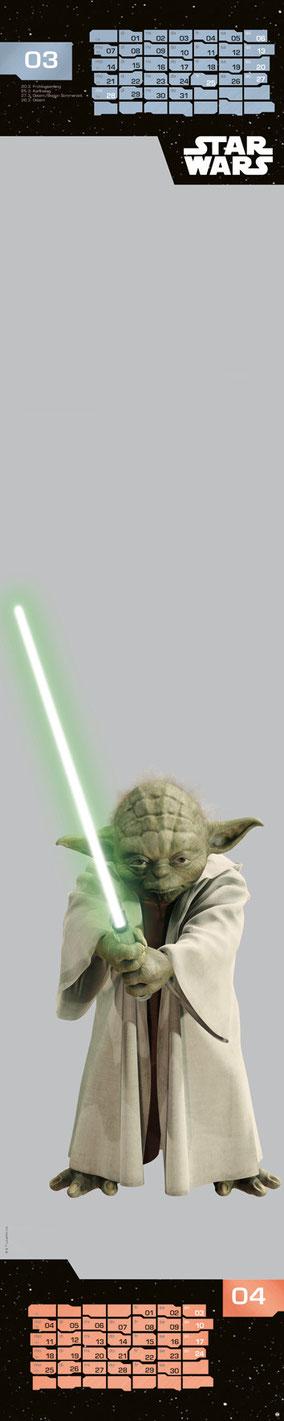 Star Wars Fanartikel - Yoda - Heye Kalender - kulturmaterial