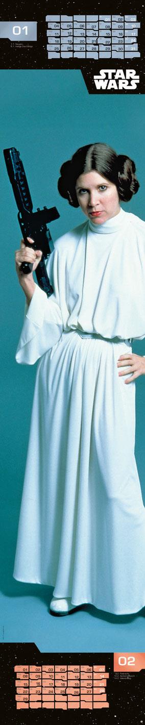 Star Wars Fanartikel - Prinzessin Leia - Heye Kalender - kulturmaterial