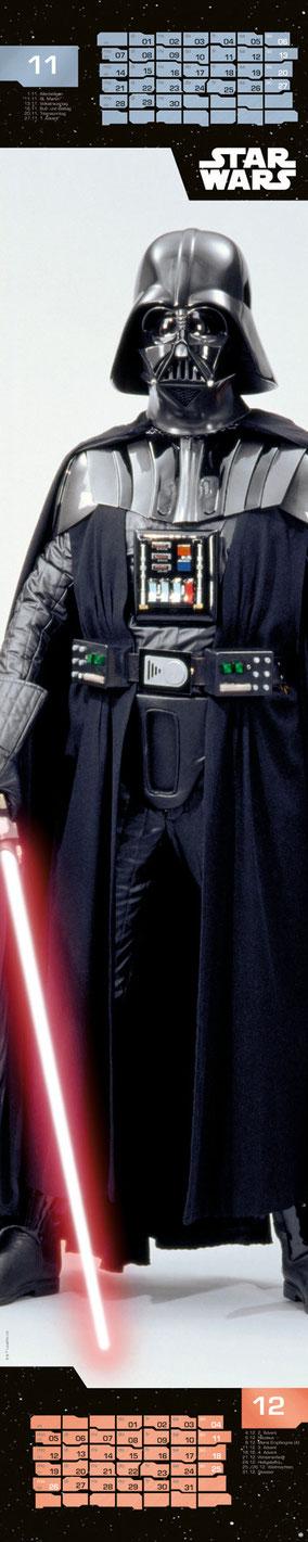 Star Wars Fanartikel - Darth Vader - Heye Kalender - kulturmaterial