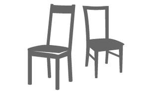 Stühle im Lavida-Outlet