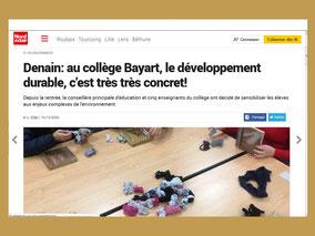 Article de Pierre-Louis Curabet du 13 juin 2017 pour La Voix du Nord