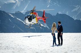 Alpenrundflug mit Gletscherlandung ab  Lauterbrunnen