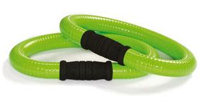 Foto von zwei grünen Smovey Ringen