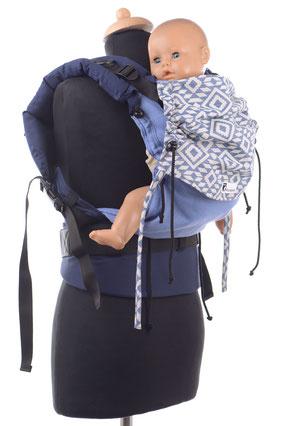 Huckepack Full Buckle Babygröße, Vergleich zum Medium, Toddler, Preschooler