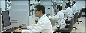 Keystone Bioanalytical Lab Technicians at work.