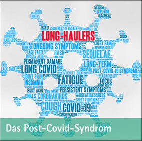 Das Post-Covid-Syndrom, Grafik Long-Haulers in Form eines Virus
