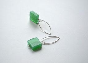 Ohrringe Würfel grün