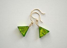 Ohrringe Grüne Dreiecke