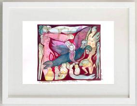 La passione rossa della sera infuocata, 2020, Acquerello e matita, 30 x 20