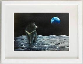 Orso della luna, Acquerello, 30 x 20