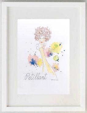 PETILLANT, 2020, Matita e acquerello, 20 x 30