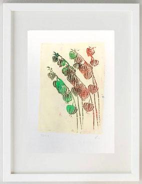 LANTERNE, 2020, gelli print, 20 x 30