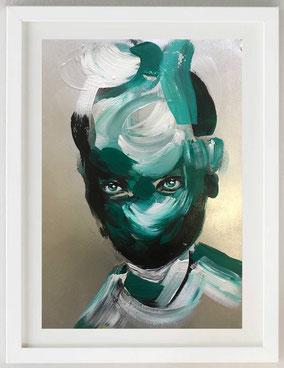 """""""ODDNESS"""", 2020, Acrylic, 25,5 x 36,5"""