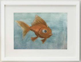 THE FISH, 2019, acrilico, 30 x 20