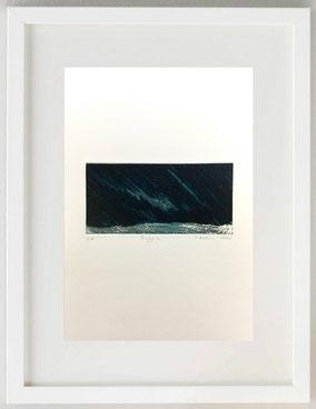 Pioggia, 2020, Pastello litografico e acido diretto, 20 x 30