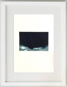 Primordiale, 2020, Pastello litografico e acido diretto, acquatinta, 20 x 30