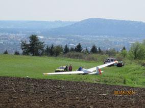 "WT Richtheim: Segelflugplatz ""Am Schmidberg"""