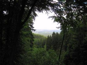 romantischer Ausblick von der kl. Hütte nach Osten