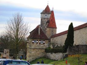 03/17: WT Rothenburg ob der Tauber: Stadtmauer
