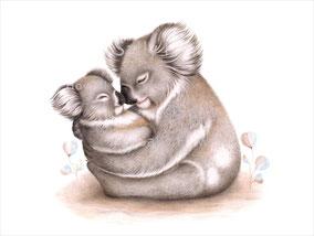 """""""Koala Cuddles"""" Print $27-79"""