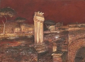 ROME, OIL ON CANVAS, 30X40 CM, YEAR 2014