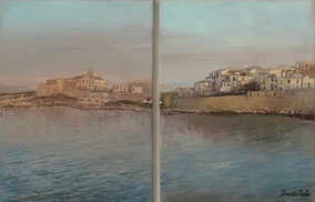 VIESTE, OIL ON CANVAS 40X60 CM (COMPRISING TWO PAINTINGS OF SIZE 30X40 CM EACH), YEAR 2014