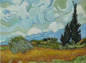 wheat field with cypresses, Vincent Van Gogh, oil on canvas, 30x40 cm, 2014