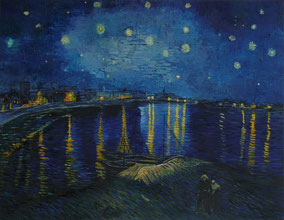 STARRY NIGHT ON RODANO,  VINCENT VAN GOGH, OIL ON CANVAS, CM 70 X 90 - 2014