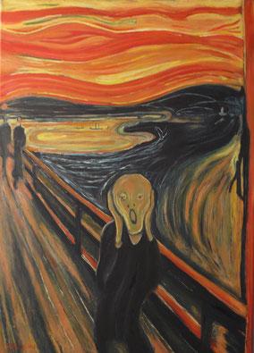 SCREAM, EDVARD MUNCH, OIL ON CANVAS, CM 50X70, YEAR 2015