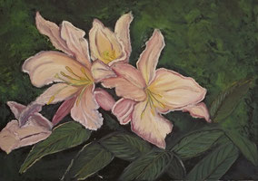 Spring flowering, oil on canvas  40x50 cm, 2012
