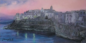 THE DAWN OF A NEW DAY, OIL ON CANVAS, 30X60 CM, YEAR 2013