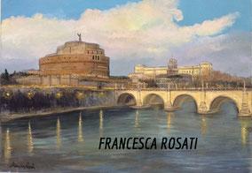 ROMA, CASTEL S. ANGELO, OLIO SU TELA, 50X70 CM, ANNO 2015