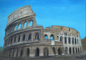 COLISEUM, OIL ON CANVAS, 50X70 CM, YEAR 2014