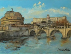 ROME,OIL ON CANVAS,30X40 CM, YEAR 2014