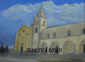 CHIESA DI SAN FRANCESCO, OLIO SU TELA 30X40 CM, ANNO 2014
