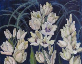 Ixia hogart, oil on canvas, cm40x50, 2012
