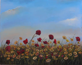 SPRING IN BLOOM, OIL ON CANVAS, 40X50 CM YEAR 2012