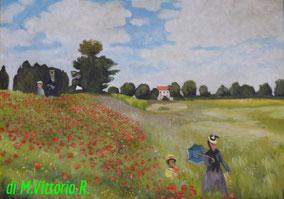 I papaveri,  C.Monet, olio su tela cm 50x70, 2013