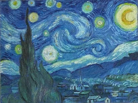 STARRY NIGHT, VINCENT VAN GOGH, OIL ON CANVAS,30X40 CM, YEAR 2013