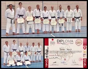 SSKU Dan prüfungen 2014 Schöftland (Akatsuki Karate 暁空手)