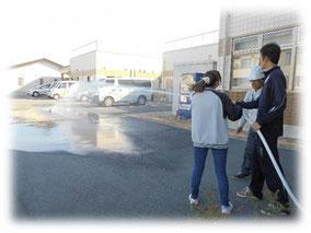 散水栓取り扱い訓練②