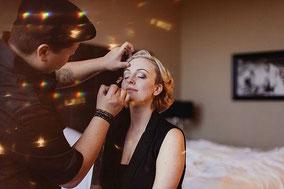 Make-up und Styling für die Braut im Hotelzimmer in Las Vegas