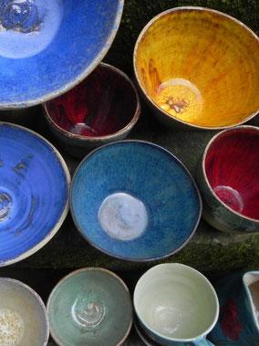 Geschirr, handgedrehte Keramik