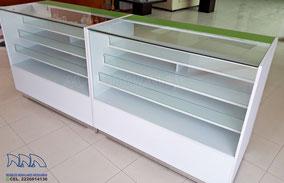 Vitrinas mostrador para papelerías y farmacias